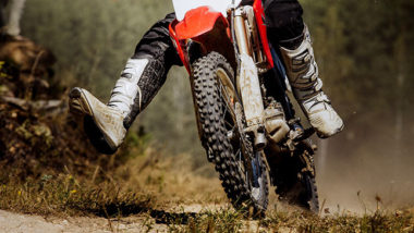 Tires on a dirt bike