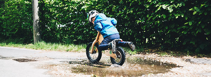 Kid in a dirt bike