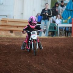 Kid running a Dirt Bike