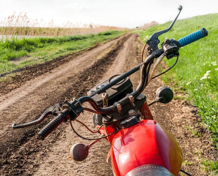 Red dirt bike